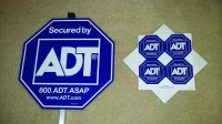 ADT Replacement sign and stickers out of box