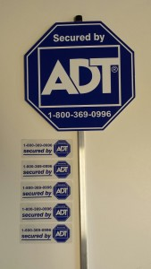ADT Sign and Stickers