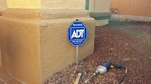 ADT Security Sign - Crime Prevention at Work