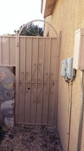 Backyard gate